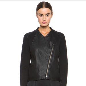 HELMUT LANG - Lambskin Leather Zip Up jacket, S